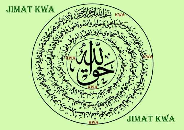 KWA tulisan tangan syekh Abdullah al-Fa'iz Daghestani untuk perlindungan copy